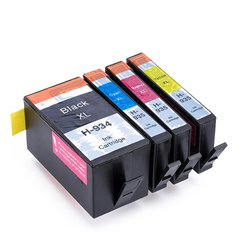 Dubaria 934 XL & 935 XL Ink Cartridges All Four Color Set For HP 934 XL & 935 XL Ink Cartridge For Use In HP OfficeJet Pro 6230, E6812, 6830, 6815, 6835 Printers - Combo Value Pack