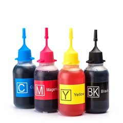 Dubaria Dye Refill Ink For Use In Canon 810 Black & 811 TriColor Ink Cartridges - 30 ML Each Bottle