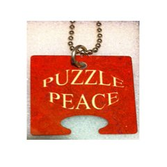 Female Puzzle Peace: Puzzle Piece, God Tag