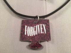 Forgiven: Male Puzzle Piece, God Tag