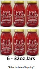 (6) 32oz. Jars of Figaretti's Spaghetti Sauce