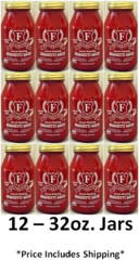 (12) 32oz. Jars of Figaretti's Spaghetti Sauce