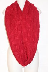 Red Knit Infinity Scarve