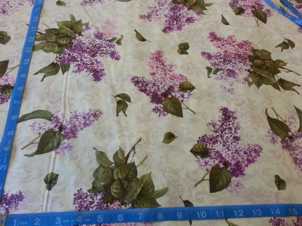 1 Yard of Quilted Treasures: Chateau Collection (Lavender ... : quilted treasures - Adamdwight.com