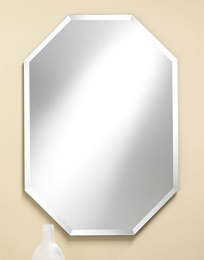 Free Shipping Octagonal Frameless Mirror 28 X 40 The