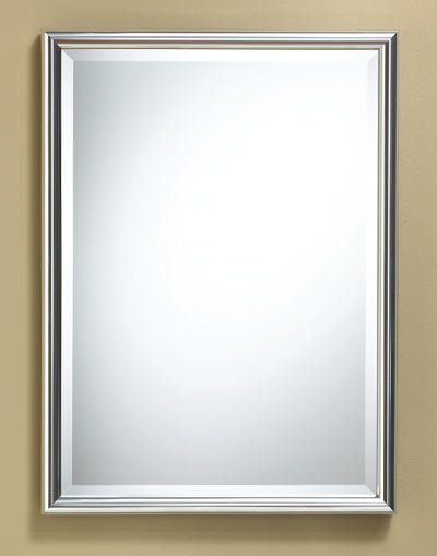 rectangle framed mirror chrome finish 22 x 30