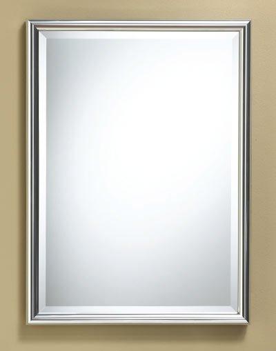 rectangle framed mirror chrome finish 22 x 30