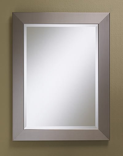 Free Shipping Rectangle Framed Mirror Faux Stainless Steel The Home Centre At Sampler Square