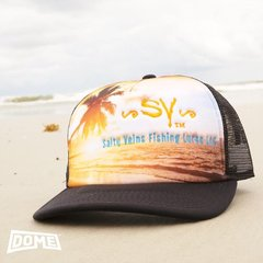 Salty Veins sunrise surfer trucker snapback