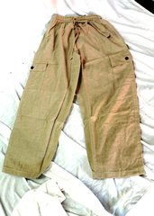 Elastic Waist Pants - Natural