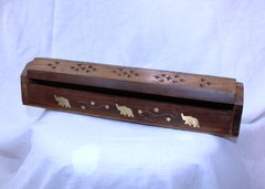 Wooden Incense Burner - Box Style