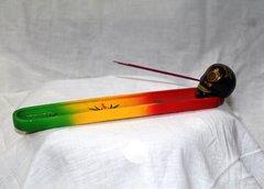 Incense Holder - Skull Candy - Rasta