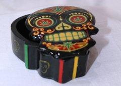 Skull Candy Stash Box - Rasta