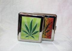 Marijuana Leaf Cigarette Case