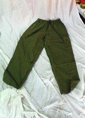 Elastic Waist Pants - Green