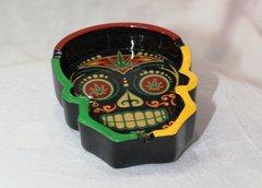 Skull Candy Ashtray - Rasta