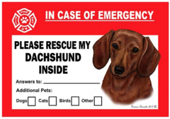 Dashshund Pet Savers Emergency Cling