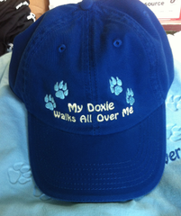'My Doxie Walks All Over Me' Cap