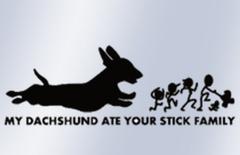 Eaten Stick Family Decal