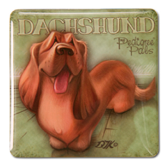 Doxie Square Magnet