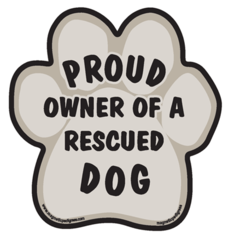 Proud Owner of a Rescue Dog Magnet