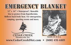 "6 PACK - Emergency Mylar Style Blanket - Each - 52"" X 84"""