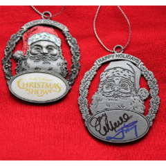 Andy Williams Christmas Show Santa Autographed Osmond Ornament