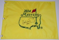 Ian Woosnam Signed Autographed Auto Masters Pin Flag w/1991 - Augusta National