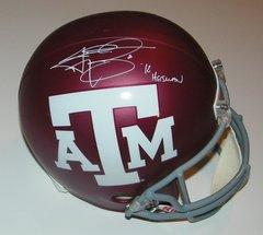 Johnny Manziel Signed Autographed Auto Texas A&M Aggies Full Size Helmet w/12 Heisman - Fanatics