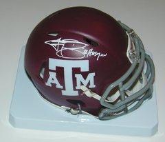 Johnny Manziel Signed Autographed Auto Texas A&M Aggies Mini Helmet w/12 Heisman - Fanatics