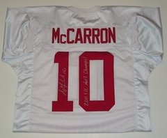 A. J. McCarron Signed Autographed Auto Alabama Crimson Tide Jersey w/2011 & 12 Nat'l Champs - Proof
