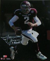Johnny Manziel Signed Autographed Auto Texas A&M Aggies 11x14 Photo w/12 Heisman - Fanatics