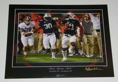 Chris Davis Signed Autographed Auto Auburn Tigers 2013 Iron Bowl Print - Proof