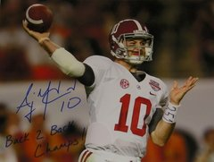 A. J. McCarron Signed Autographed Auto 16x20 BCS Photo w/Back 2 Back Champs - Proof