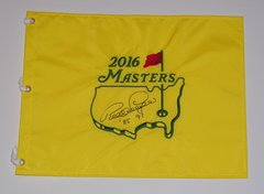 Bernhard Langer Signed Autographed Auto Masters Pin Flag w/85 & 93