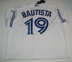 Jose Bautista Signed Autographed Auto Toronto Blue Jays Baseball Jersey - 100% Proceeds to Charity