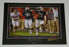 Chris Davis Signed Autographed Auto Auburn Tigers 2013 Iron Bowl 11x14 Print - Proof