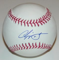 Chipper Jones Signed Autographed Auto OML Baseball