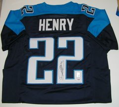 Derrick Henry Signed Autographed Auto Tennessee Titans Football Jersey - PSA DNA