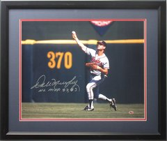 Dale Murphy Signed Autographed Auto & Framed Atlanta Braves 16x20 Photo w/NL MVP 82, 83