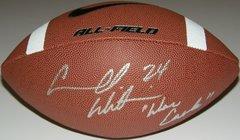 Carnell Williams Signed Autographed Auto Nike Football w/War Eagle