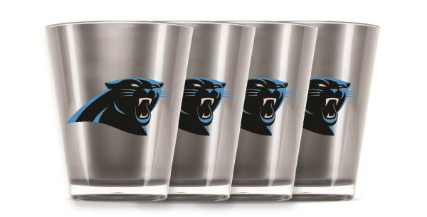 Carolina Panthers Shot Glasses 4 Pack Shatterproof NFL