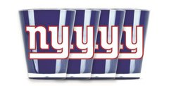 New York Giants Shot Glasses 4 Pack Shatterproof NFL