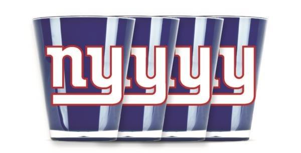 New York Giants Shot Glasses 4 Pack Shatterproof NFL