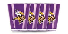 Minnesota Vikings Shot Glasses 4 Pack Shatterproof NFL