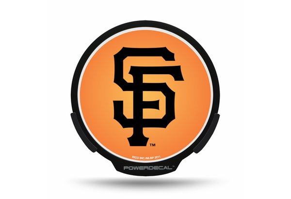 San Francisco Giants LED Window Decal Light Up Logo Powerdecal