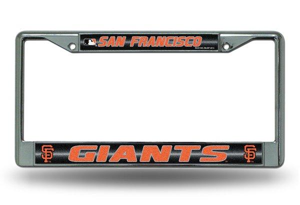 San Francisco Giants Chrome Bling License Plate Frame MLB Licensed