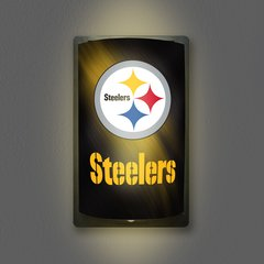 Pittsburgh Steelers Motiglow Light Up Wall Sign NFL Party Animal