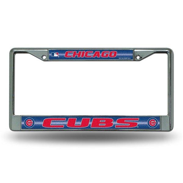 Chicago Cubs Chrome Bling License Plate Frame MLB Licensed