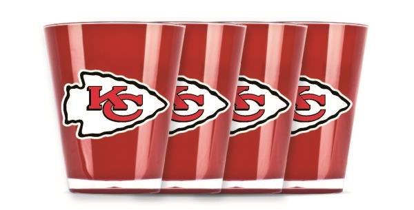 Kansas City Chiefs Shot Glasses 4 Pack Shatterproof NFL